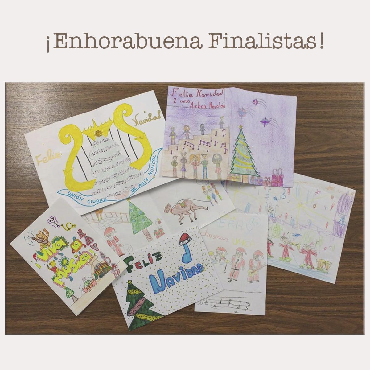 Finalistas del concurso de Postales Navideñas 201820